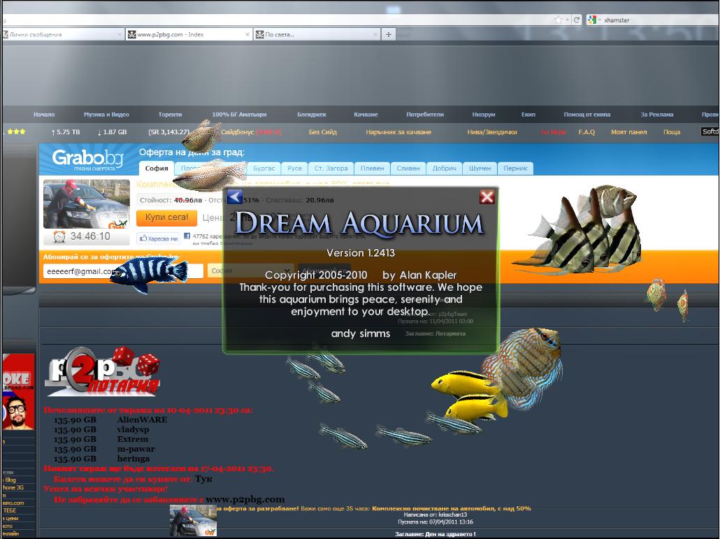 Dream aquarium bloodleftdown - Dream aquarium virtual fishtank 1 ...
