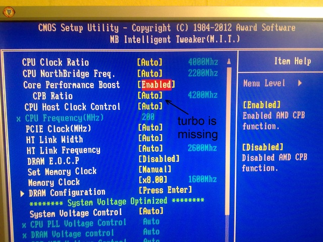 FX 8350 turbo maybe not working or mobo problem?