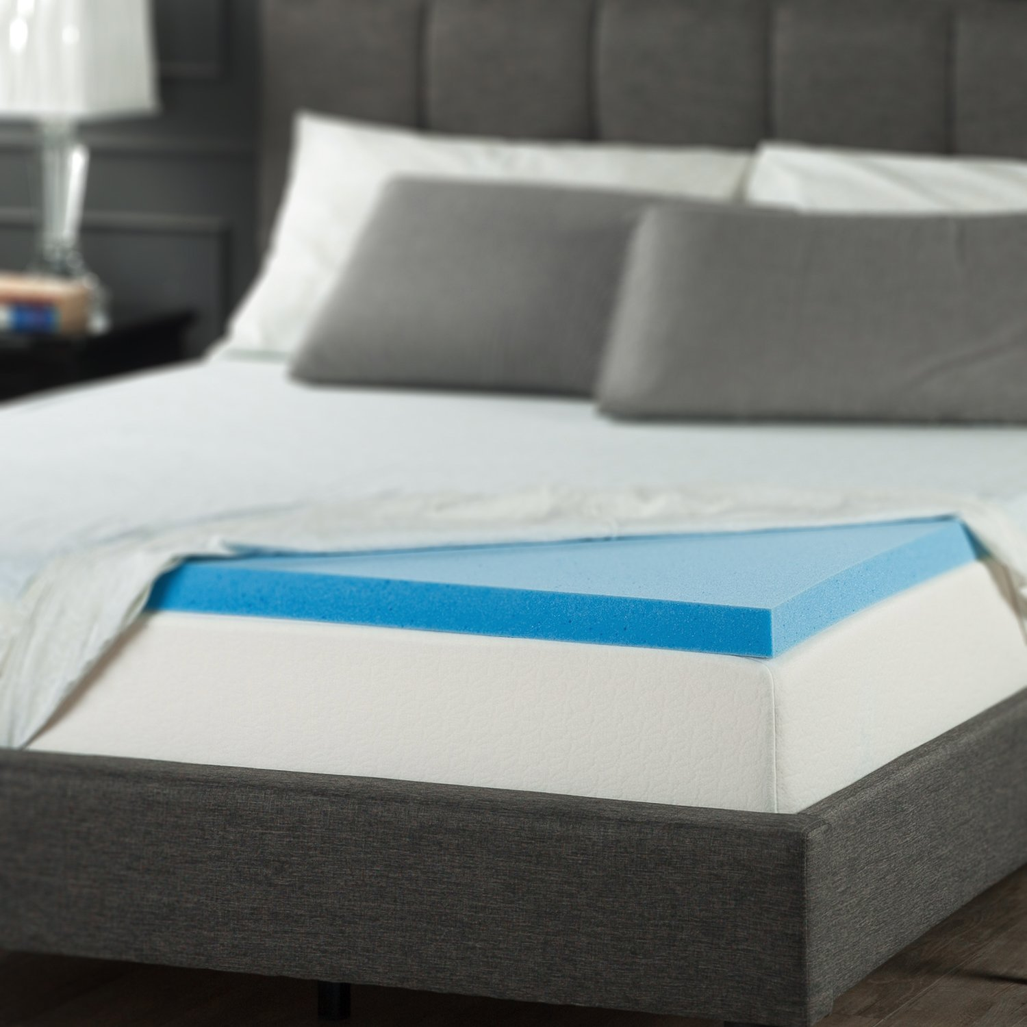 Best Cooling Gel Memory Foam Topper Mattress Queen Size